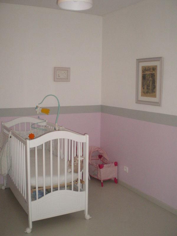 Captivant Peinture Chambre Bébé Gris Et Rose