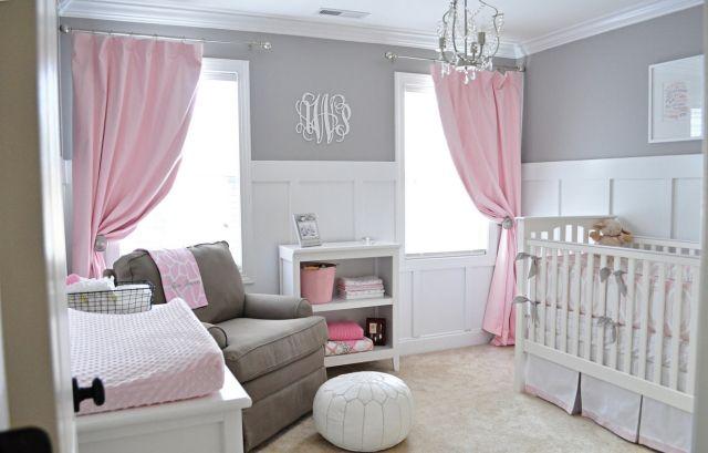 Chambre b b fille gris et rose famille et b b - Decoration chambre bebe fille rose et gris ...