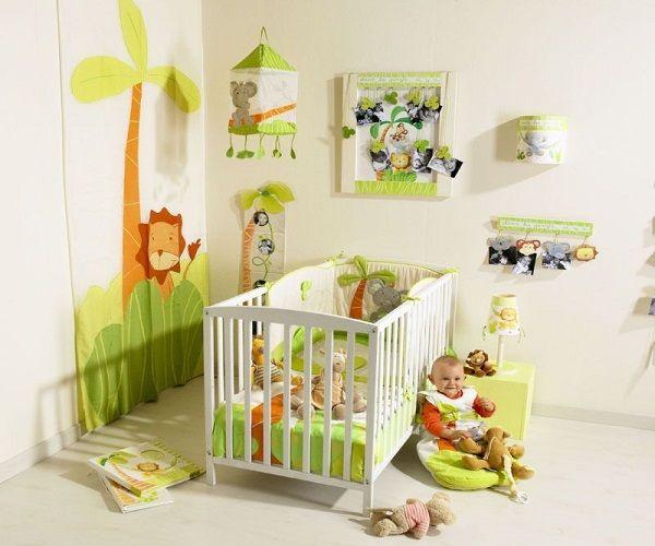 Stickers jungle chambre bébé pas cher - Famille et bébé