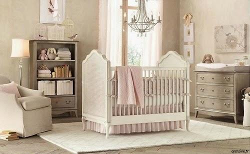 Chambre bébé fille rose et beige - Famille et bébé