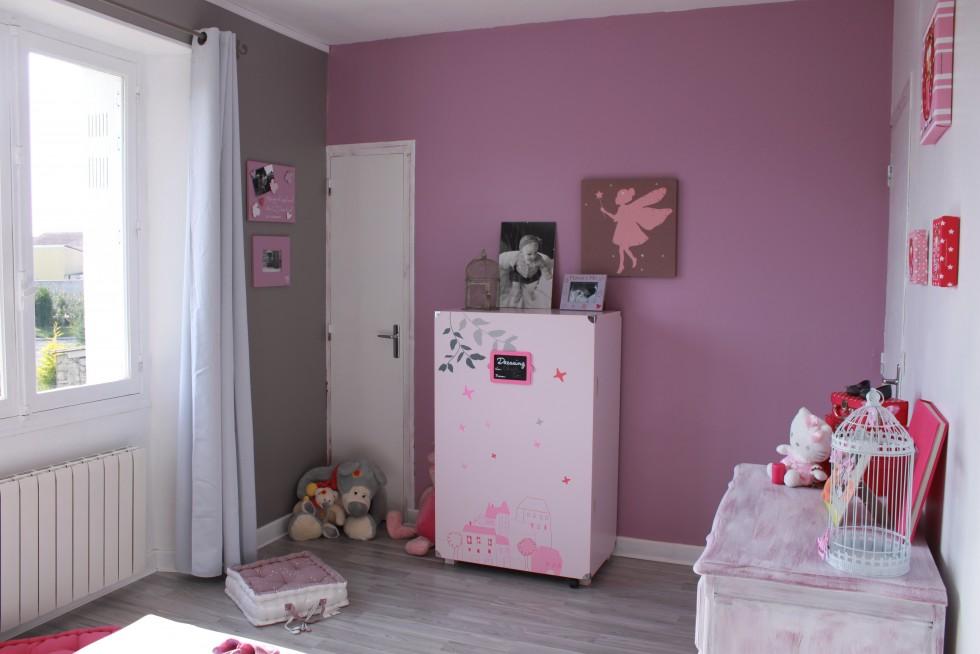 Chambre bebe gris prune - Famille et bébé