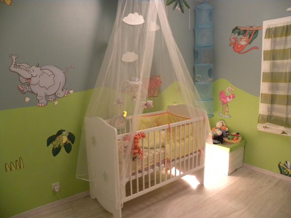 Deco chambre bebe gris vert - Famille et bébé