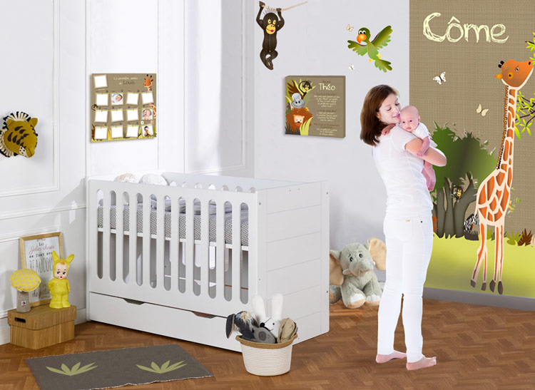 deco chambre bebe safari famille et b b. Black Bedroom Furniture Sets. Home Design Ideas