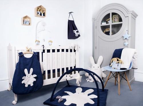 Chambre bebe bleu marine