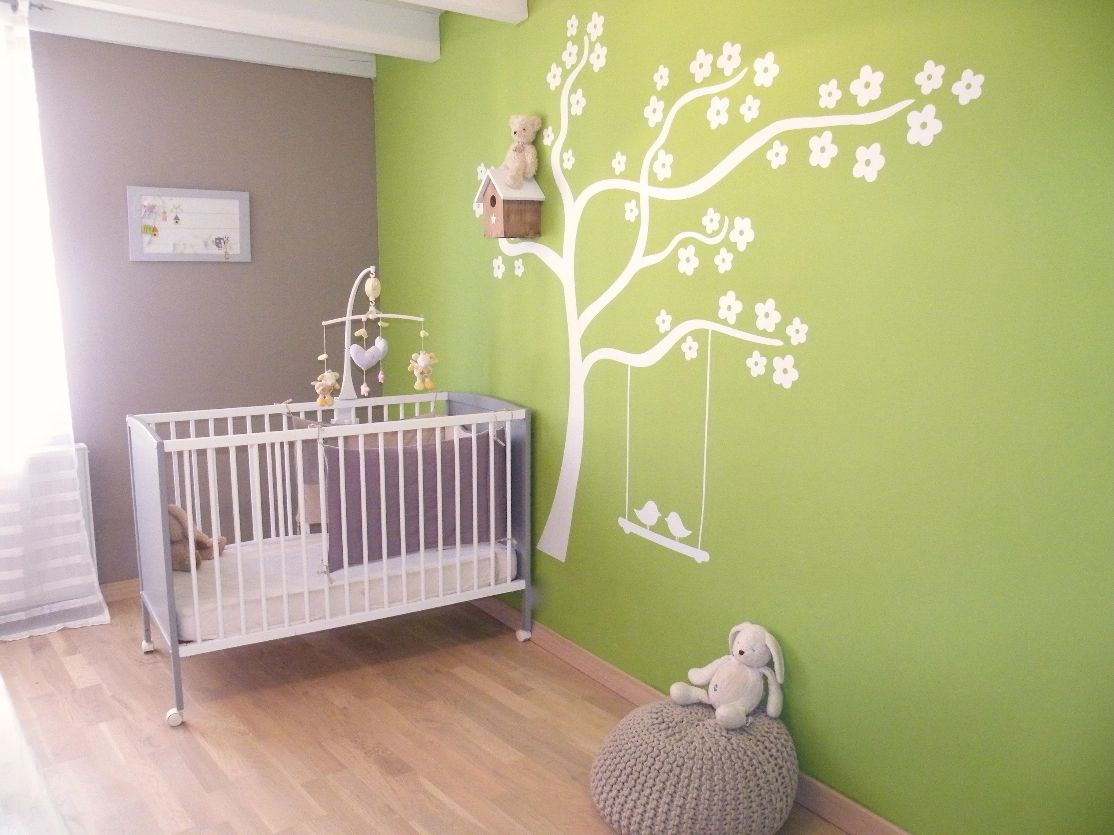 Deco chambre bebe rose et marron - Famille et bébé