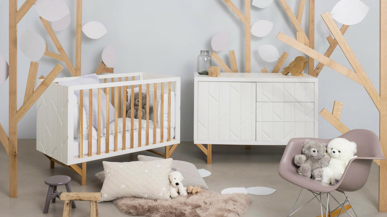 Chambre bébé mixte blanche grain d'orge