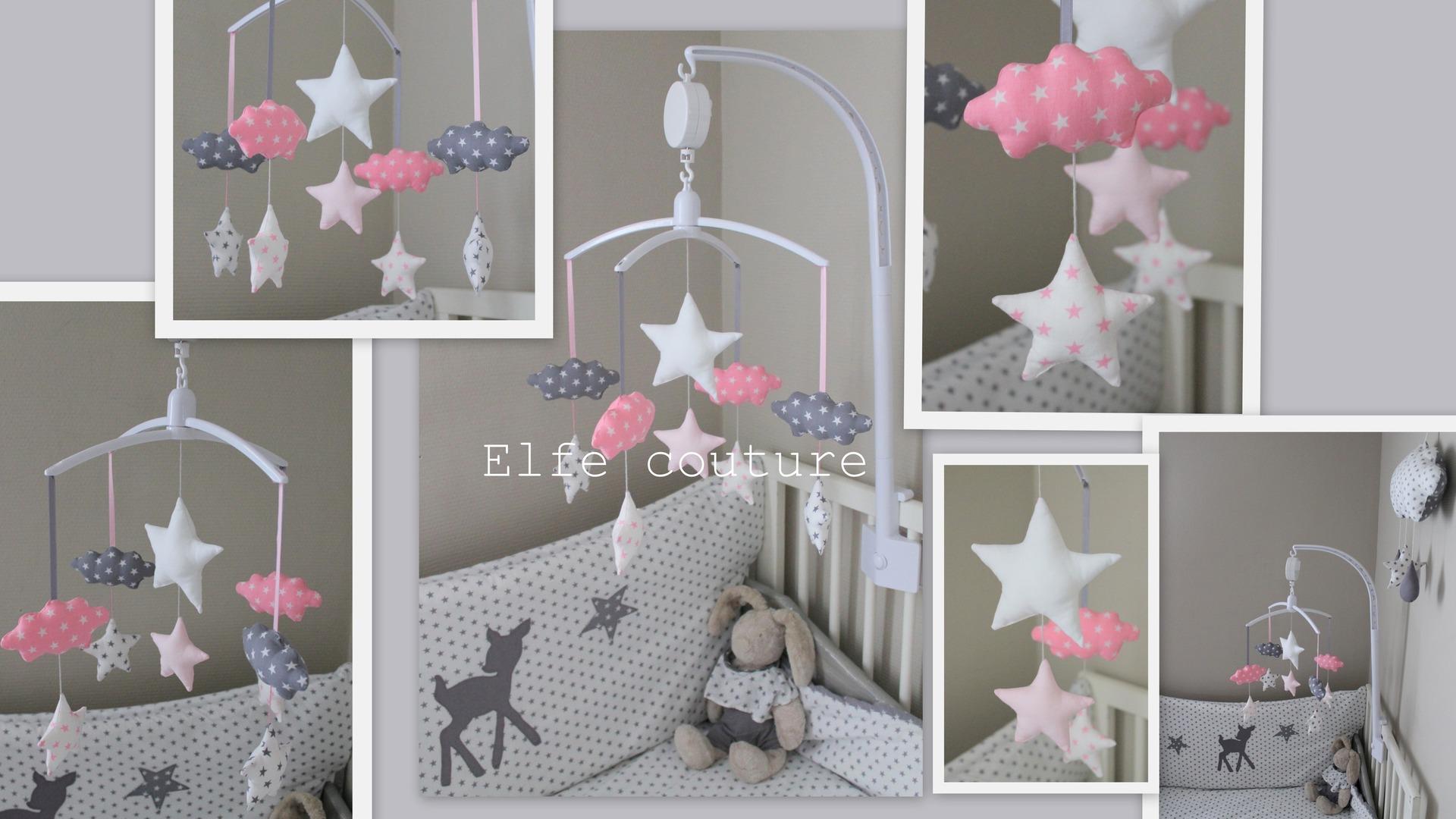 Chambre bebe gris rose blanc - Famille et bébé
