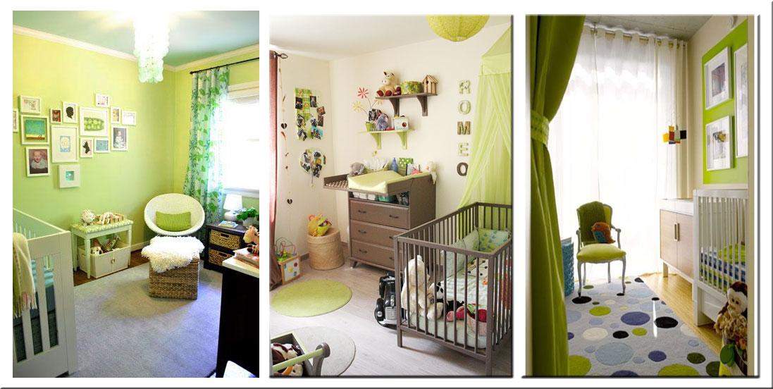 Chambre bebe vert et jaune - Famille et bébé