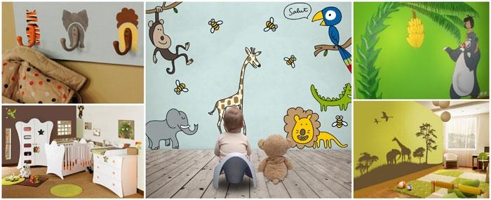 Chambre bebe deco jungle - Famille et bébé