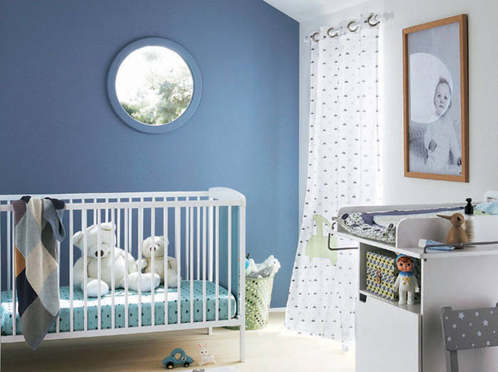 Chambre Bebe Couleur Bleu Et Gris