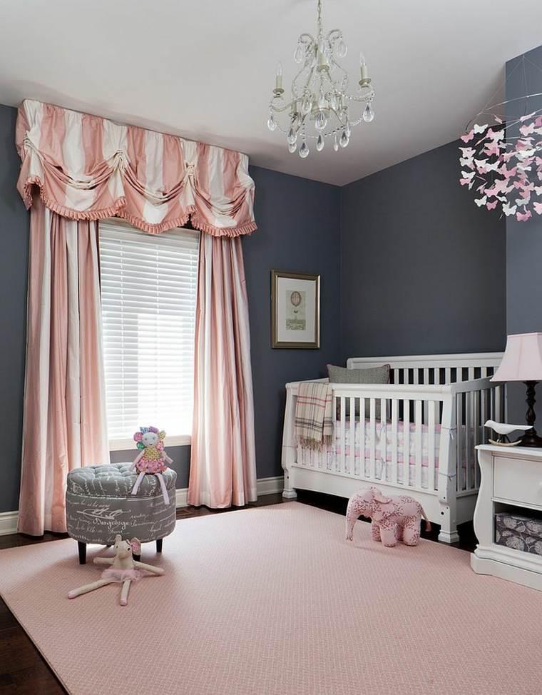 Chambre bebe fille gris et mauve - Famille et bébé