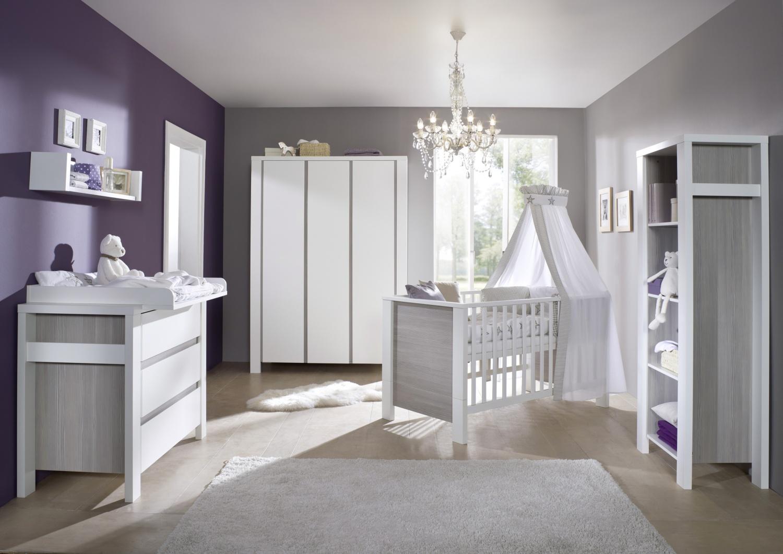 Chambre bebe gris et mauve - Famille et bébé