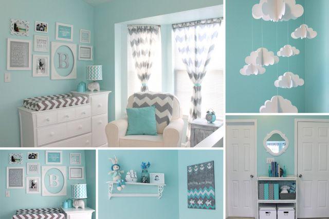 Deco chambre bebe gris et bleu - Famille et bébé