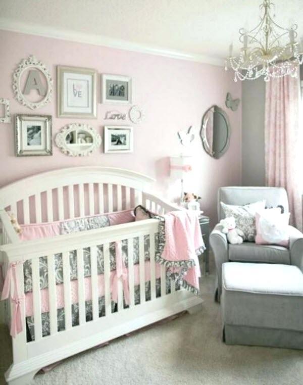 Chambre bebe gris blanc rose