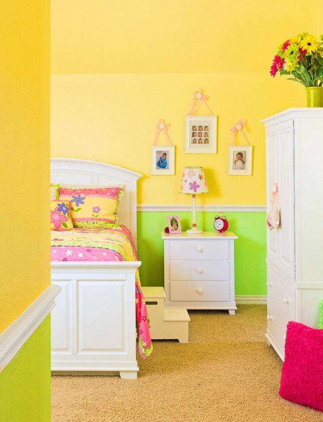 Chambre b b maison france 5 famille et b b - Chambre bebe vert et jaune ...
