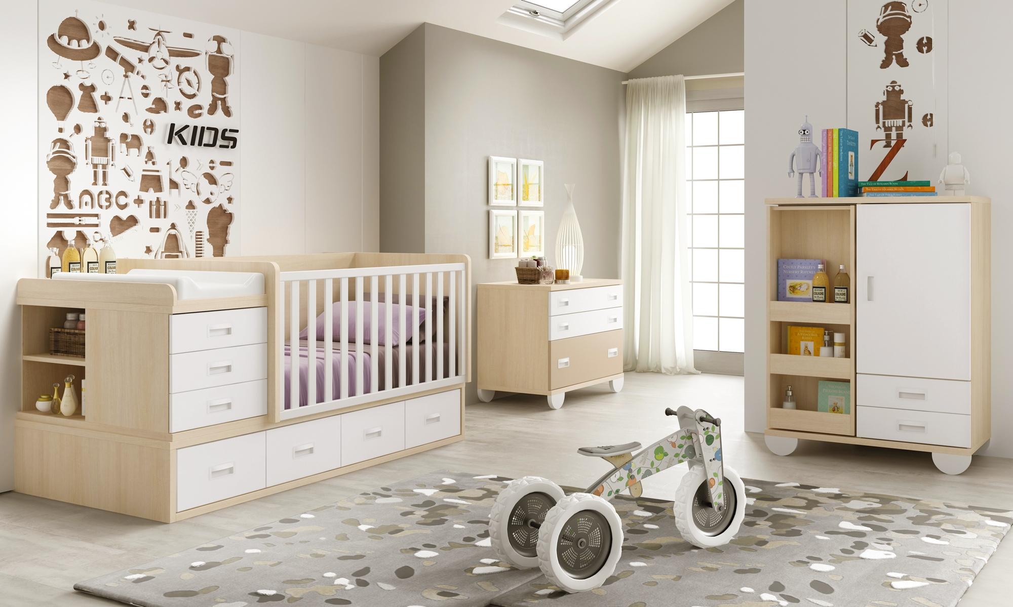 Chambre complète bébé avec lit évolutif