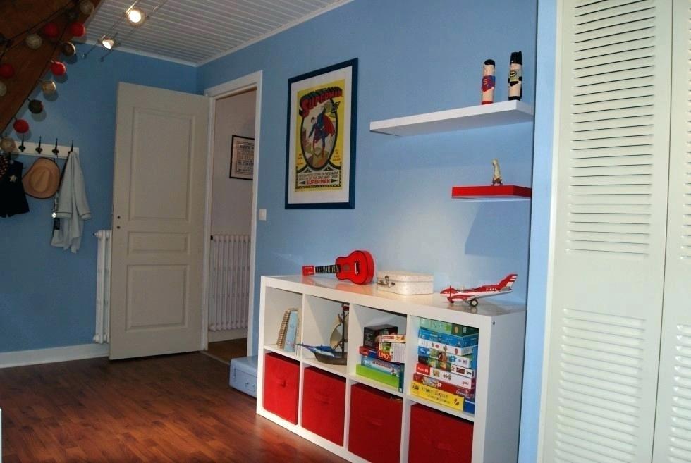 chambre bebe bleu et rouge