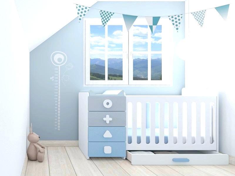 Chambre bébé garçon bleu et blanc - Famille et bébé