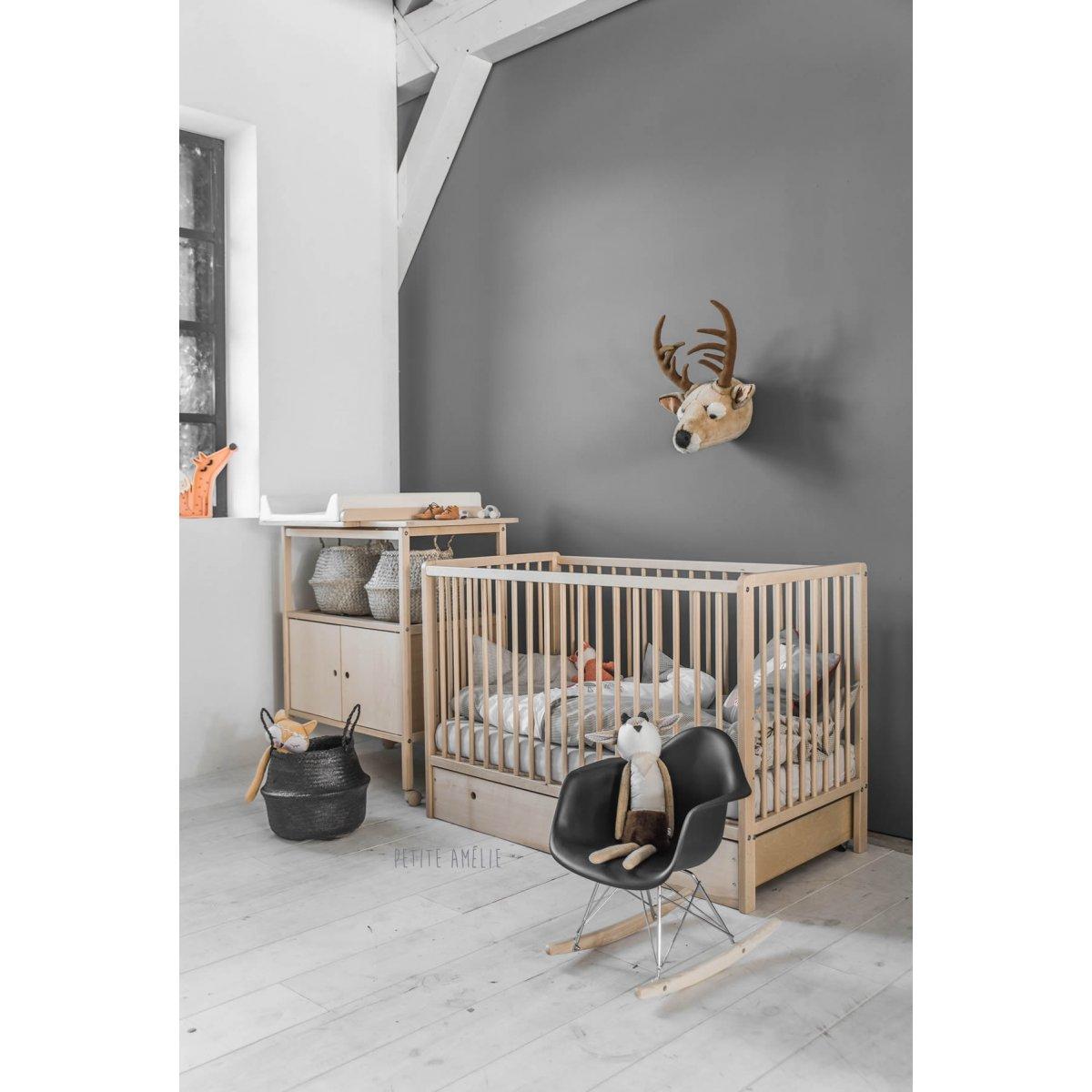 Chambre bébé bois naturel - Famille et bébé
