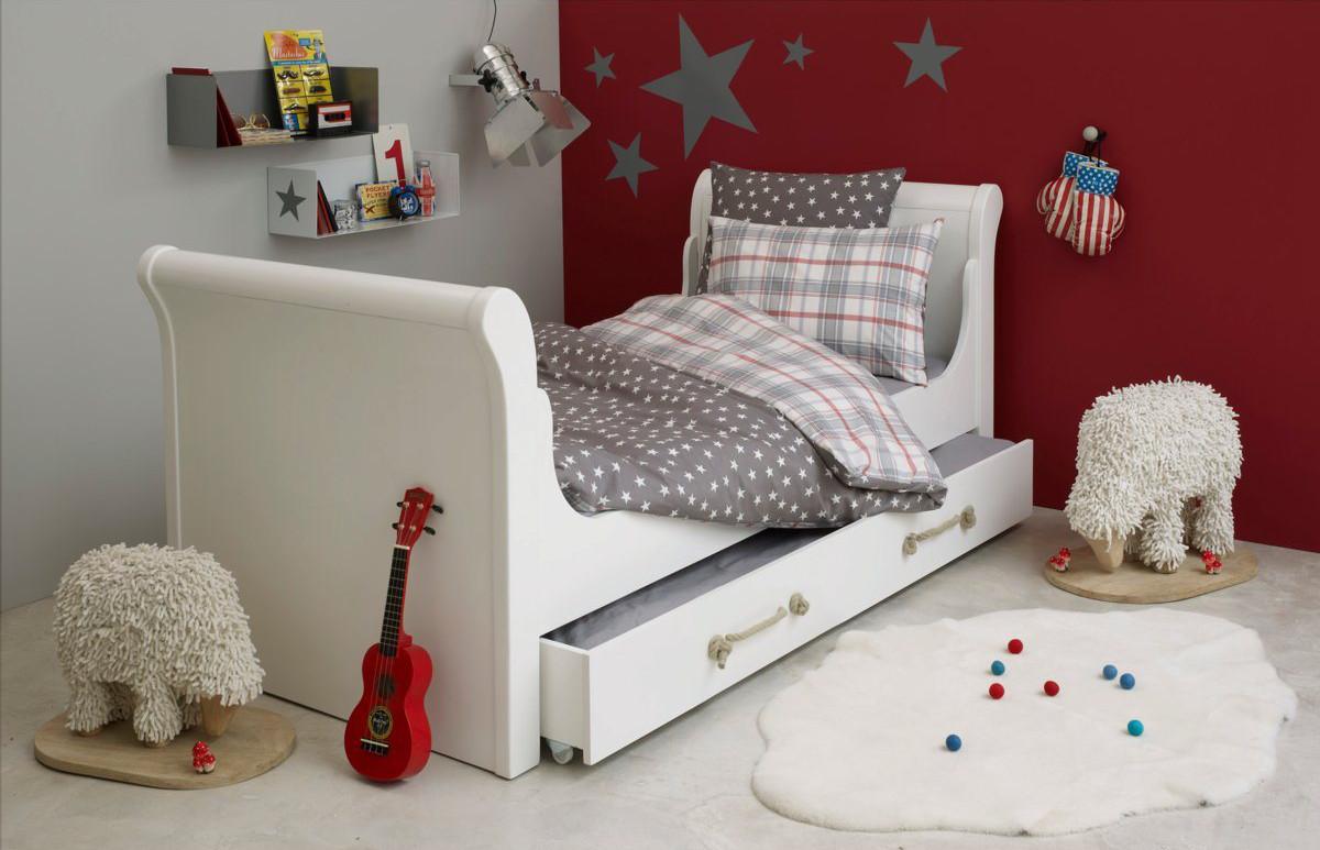 Chambre bebe garcon gris et rouge - Famille et bébé