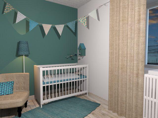 Chambre bébé bleu aqua - Famille et bébé