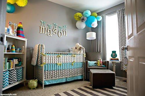 Idée décoration chambre bébé bleu - Famille et bébé