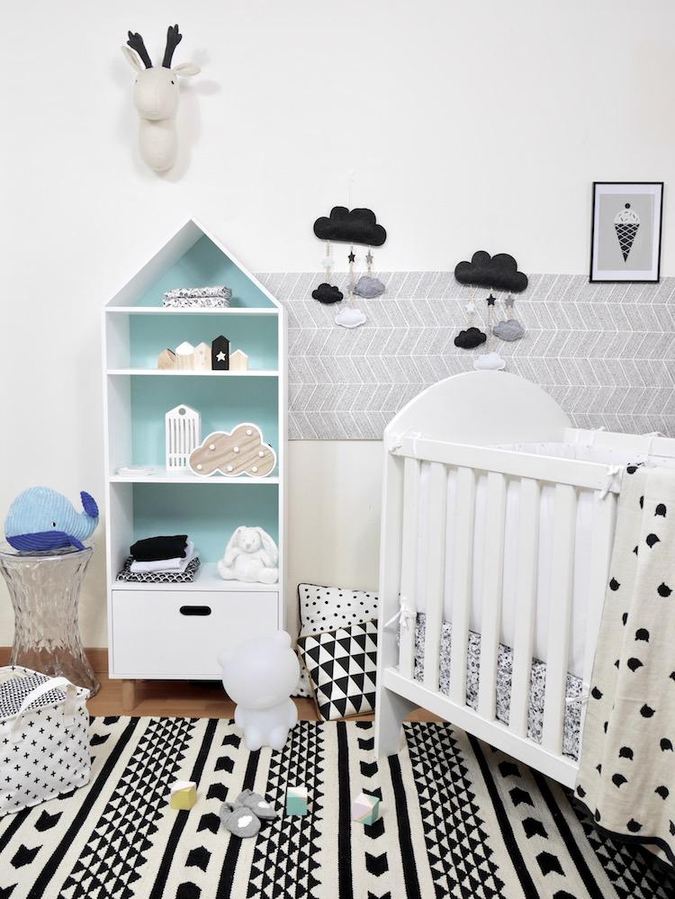 Deco chambre bebe noir et blanc
