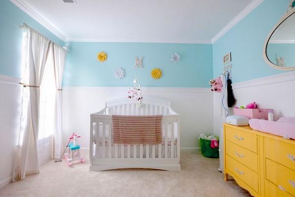 Chambre bébé fille turquoise - Famille et bébé