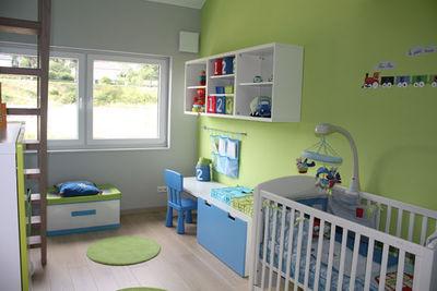 Deco chambre bebe bleu vert - Famille et bébé