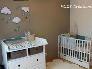 Chambre bébé garçon bleu vert - Famille et bébé