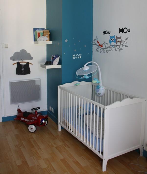 Captivant Chambre Bebe Bleu Ardoise ...