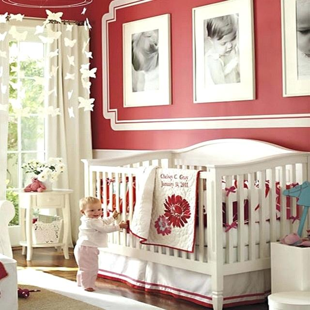 Décoration chambre bébé rouge gris - Famille et bébé