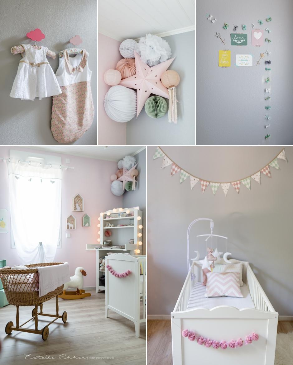 Chambre bébé fille vieux rose - Famille et bébé