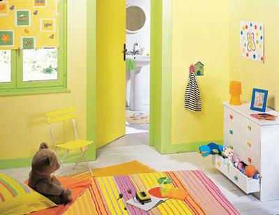 Chambre bébé vert jaune - Famille et bébé