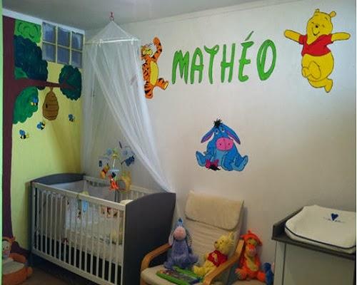 Decoration chambre bebe garcon winnie - Famille et bébé