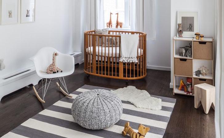 Chambre bebe blanche et bois - Famille et bébé