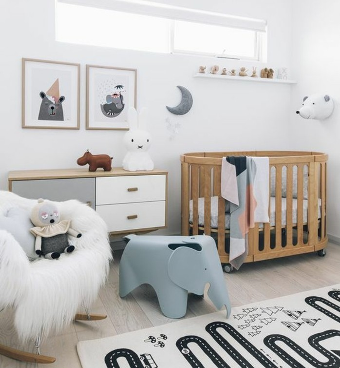 chambre bebe lit rond famille et b b. Black Bedroom Furniture Sets. Home Design Ideas