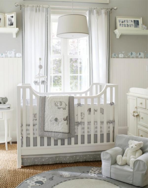 chambre pour b b gris et blanc famille et b b. Black Bedroom Furniture Sets. Home Design Ideas