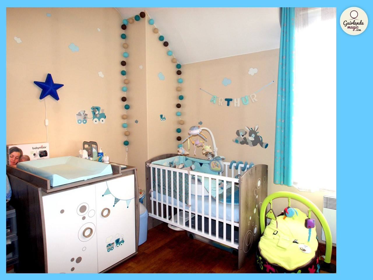 Agreable Deco Lumineuse Chambre Bebe