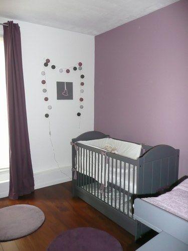 Chambre bébé fille couleur prune - Famille et bébé