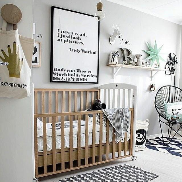 Chambre bebe blanche moderne - Famille et bébé