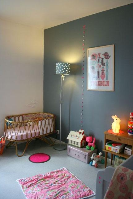 Chambre bebe gris anthracite - Famille et bébé