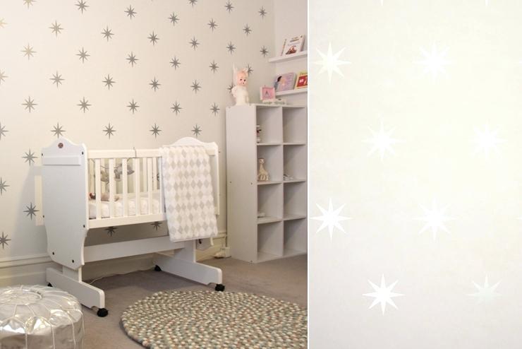Chambre bébé papier peint