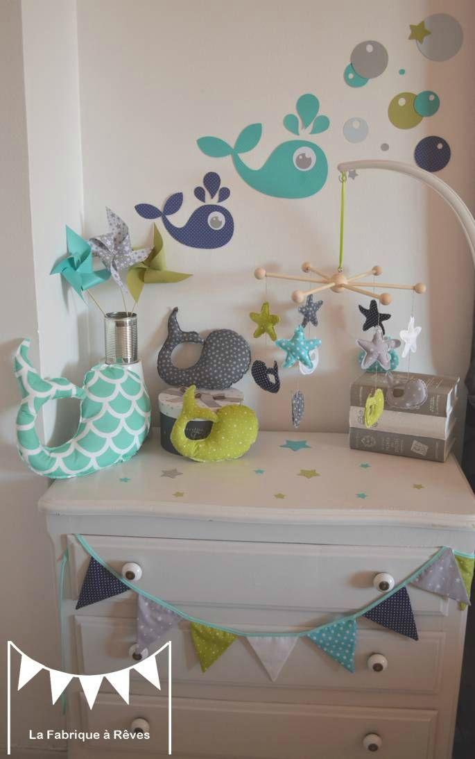 Chambre bebe vert canard - Famille et bébé