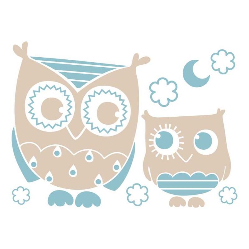 Stickers chambre bébé bleu