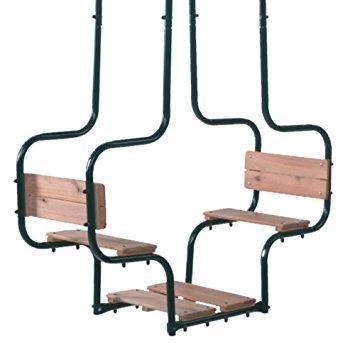 balancoire face a face bois famille et b b. Black Bedroom Furniture Sets. Home Design Ideas