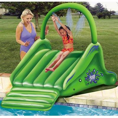 Toboggan gonflable pour piscine hors sol