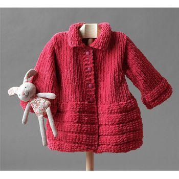 manteau tricot bebe fille