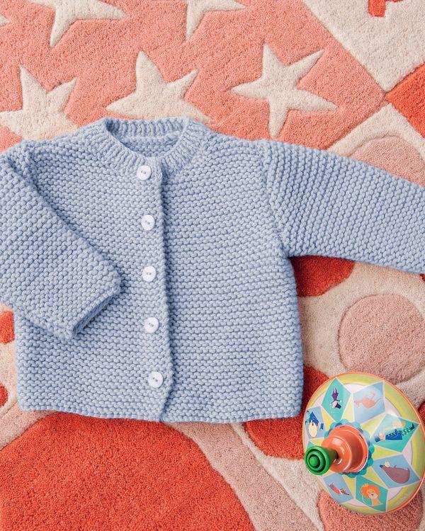 tricot gilet bébé gratuit