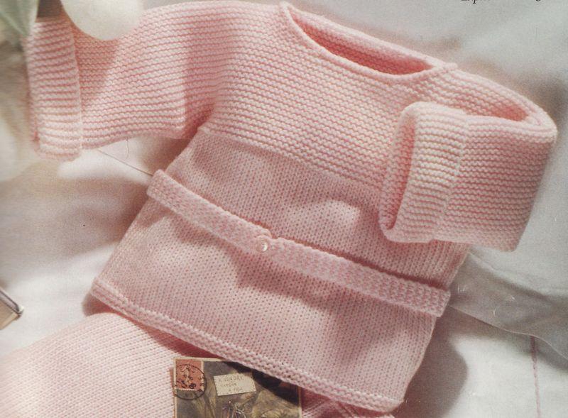 brassiere laine naissance a tricoter